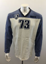 Roots Athletics Men's Large Long Sleeve Blue And White Embroidered SweatShirt
