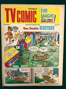 TV COMIC #875 weekly British comic book September 21 1968 Doctor Who full color