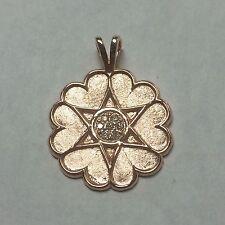 10k Rose Gold Mom's Medal Of Honor Pendant