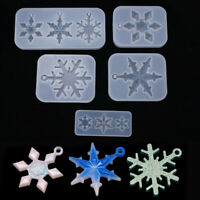 Silicone Resin Mold Snowflake Silicone Pendant Mold DIY Jewelry Making Tool