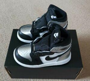 Nike Air Jordan 1 High OG Silver Toe (TD) 6C UK 5.5