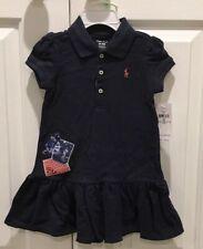 Ralph Lauren Baby Girl Patchwork Polo Dress & Bloomers Set - 18M