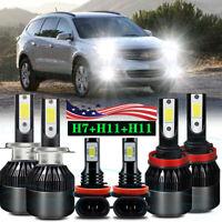 For 2013 2014 2015 2016 2017 2018 Chevy Traverse LED Headlight Hi&Lo+Fog Light