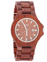 His & Her Wooden Watch Red Sandalwood Japan Quartz  Men's Women's