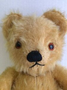 """Vintage 1950's Musical Mohair TEDDY BEAR 15"""" Toy CHAD VALLEY CO LTD Works Fine"""