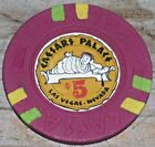 $5 VINTAGE 4TH EDT GAMING CHIP FROM CAESARS PALACE CASINO LAS VEGAS R6