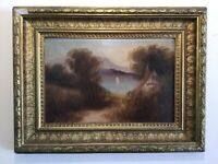 Antique vintage Gilt framed original oil painting