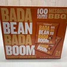 24 BAGS 12/2020 BADA BEAN BADA BOOM MESQUITE BBQ CRUNCHY BROAD BEANS 100 CALORIE