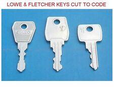 LOWE & FLETCHER KEYS - CUT TO CODE  REPLACEMENT OR SPARE -  L&F LOCK KEYS