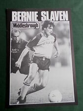 BERNIE SLAVEN - MIDDLESBROUGH -1 PAGE PICTURE- CLIPPING/CUTTING