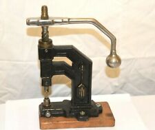 Tool Victorian No Reserve Antique Watchmakers Upright Press Jeweling