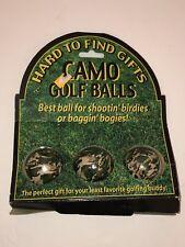 Camouflage Golf Balls Gag Gift and Camo Present 2002 older version Nib Prank