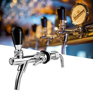 Adjustable Beer Tap Flow Control Stainless Steel Faucet Shank G5/8 Thread Tap