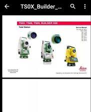 Leica TS02 06 09 & Builder Series station totale Réparation & Pièces Manuel