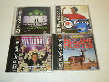 Lot of 4 PS1 Games Men in Black,Who Millionaire, Big Game & Tiger wood  VG Cond