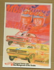 HOT WHEELS PLYMOUTH SNAKE MONGOOSE DUSTER CUDA FUNNY CAR 1970 MOPAR POSTER