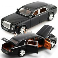 Rolls-Royce Cars Model Pull Back Alloy Metal Black Red Collectiion Vehicles Toys