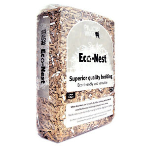 PILLOW WAD 'S BIO ECO-NEST - INNOVATIVE VIRTUALLY DUST FREE ABSORBENT BEDDING