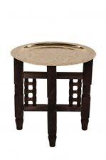 Orientalischer  Messingtisch mit Holzgestell angefertigt 40 cm Nr.18T NEU