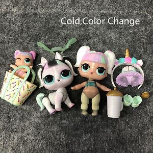 LOL Surprise Confetti Pop Unicorn UNICORN & LIL SPARKLE & Pet Series 3 Doll Set