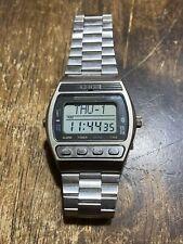 Vintage 1981 Seiko D229-5010 LCD Digital Watch - Case Palladium plating