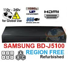 Samsung BD-J5100 Multi Zone All Region Free Blu-Ray DVD Disc Player REFURBISHED