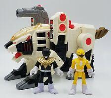 Imaginext Power Rangers White Tiger Zord Yellow Ranger Black Ranger Lot