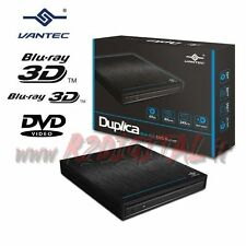 GRABADORA LECTOR BLURAY USB 3.0 VANTEC DUPLICADOS EXTERNO CD DVD BLU-RAY PC
