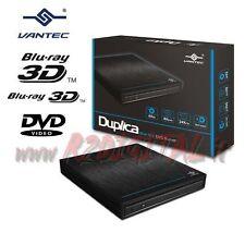 MASTERIZZATORE LETTORE BLURAY USB 3.0 VANTEC DUPLICA ESTERNO CD DVD BLU-RAY PC