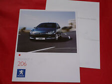PEUGEOT 206 petit traduction shynda JBL prospectus + liste de prix de 2007