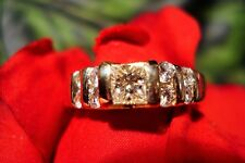 3/4 CARAT PRINCESS CUT ENGAGEMENT RING 14K YG SZ 8 #75PCD
