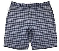 FootJoy FJ Golf Shorts Mens Size 38 Plaid Blue Gray Flat Front Stretch