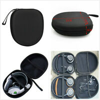 Black Hard Shell Carry Headphone Headset Earphone Case Bag Collector Pouch Box