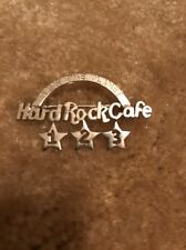 Hard Rock Cafe Sterling Silver 3 Year Anniversary Staff Pin Mint And Rare