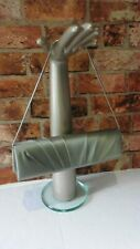 COAST GREEN SILK EVENING SHOULDER BAG SILVER STRAP EVENING PARTY WEDDING R5