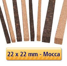 3 Stück - Korkstreifen für Modelbau, Dehnungsfugen, Basteln // 22x22x900mm MOCCA