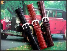 20mm Dk Brown Genuine Teju Lizard watchband strap fits OEM 16mm buckle IW SUISSE