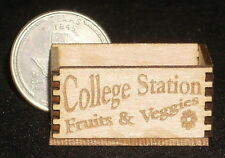 Dollhouse Miniature College Station Texas Produce Crate 1:12 Market Store