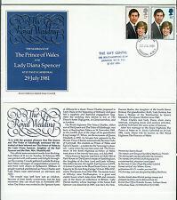 ENVELOPPE 1er JOUR 22.07.1981 = WEDDING OF PRINCE CHARLES AND LADY DIANA SPENCER
