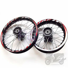 "15MM BLACK RIMS DIRT RACING 14"" FRONT 12"" REAR ALLOY RIM THUMPSTAR PIT BIKE"