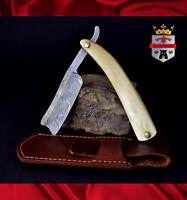 Damascus razor blade, 071D Cut throat razor KingForge, shaving gift barber blade