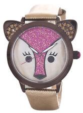 Betsey Johnson Women's Glitter Face Fox Quartz Watch BJ00631-02