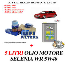 Servicesatz Alfa Romeo 147 Gt 1.9 JTD Jtdm 5 Liter Selenia Wr 5w40 4 Filter