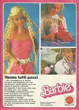 X1105 BARBIE - Vanno tutti pazzi per l'avvolgitrecce - Mattel - Pubblicità 1983