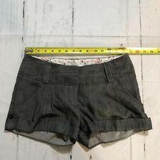 Charlotte Russe Women Mini Casual Khakis Chinos Shorts Size 5 Grey A61 -2