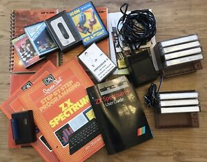 ZX Spectrum Book games Basic Programming bundle With Power Supply