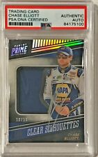 2018 Panini Prime Chase Elliott Race Used Fire Suit Signed Auto Card PSA/DNA