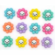 Jesse James Buttons - Dress It Up - HAPPY LITTLE FLOWERS -10110 Sew Craft Quilt