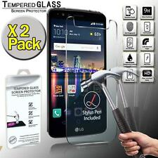 2 Pack Real Tempered Glass Screen Protector Cover For LG Stylo 3