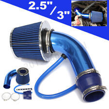 """Blue 2.5""""-3.0"""" Universal Cold Air Intake Induction Hose Pipe Kit System & Filter"""